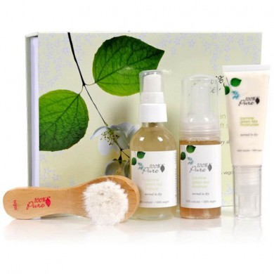 100% Pure Jasmine Green Tea Skin Care Gift Set