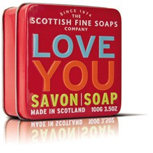 Scottish Fine Soaps - tvål i plåtask, LOVE YOU